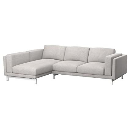 Soferia Fodera Extra Ikea NOCKEBY Divano 2 posti con Chaise-Longue ...