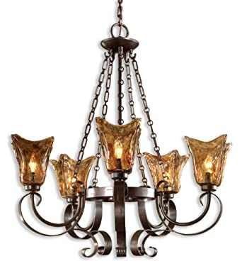 Uttermost 21007 Vetraio 5-Light Chandelier, Oil Rubbed Bronze Finish
