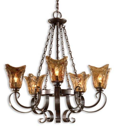 Uttermost 21007 Vetraio 5-Light Chandelier, Oil Rubbed Bronze Finish