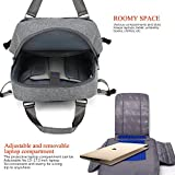 CoolBELL 17.3 Inch laptop backpack / Milt-functional Day Pack / Carrying Bag / Travel Backpack / Fits Up To 17.3 Inch Laptop (Grey)
