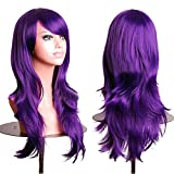 """RoyalStyle 28""""70cm Long Wavy Universal Cosplay Wigs Party Hair for Woman (Purple)"""