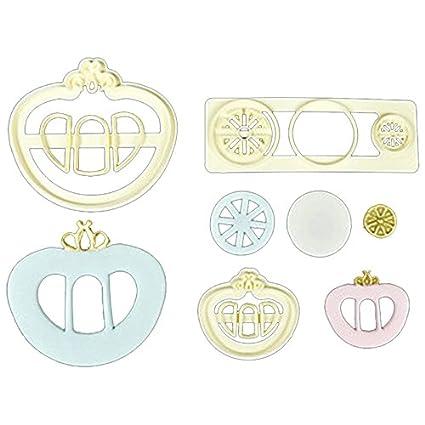 Juego de herramientas de cocina, 3 moldes para repostería con diseño de carruaje y corona