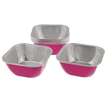 D dolity 10 moldes magdalenas vasos de moldes para Cupcake Moldes de repostería (papel aluminio vaso Rode Rouge: Amazon.es: Hogar