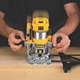 DEWALT DWP611PK 1.25 HP Max Torque Variable Speed Compact Router Combo Kit with LEDs