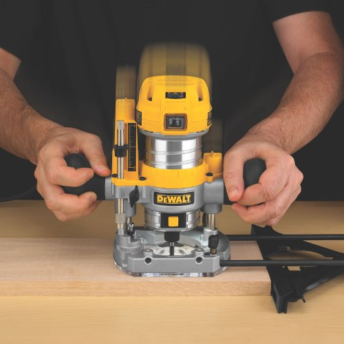 DEWALT DWP611PK 1.25 HP Max Torque Variable Speed Compact Router Combo Kit with LED's by DEWALT (Image #1)