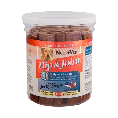 Nutri-Vet Hip and Joint Level 1 Natural Jerky Strips for Dogs, 20-Ounce, My Pet Supplies