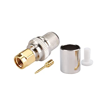 Amazon.com: 5pcs Rf Crimp Connector SMA Male for Coaxial ...