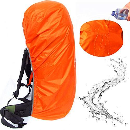 Joy Walker Waterproof Backpack Rain Cover Suitable for (55-70L, 70-90L) Backpack (Orange, XL (for 55-70L Backpack))