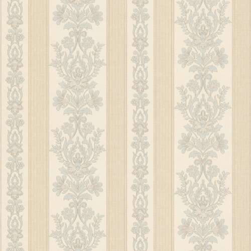 - Mirage 990-65024 Kensington Damask Stripe Wallpaper, Light Blue