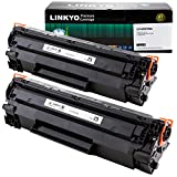 2-Pack LINKYO Compatible Toner Cartridges Replacement for HP 78A CE278A (Black)