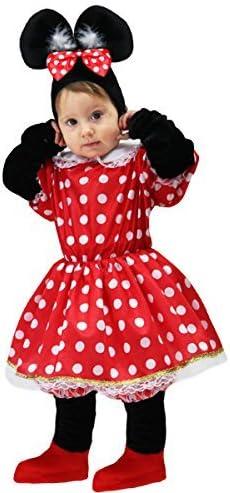 Disfraz de carnaval, para bebé, Minnie Mouse 24-36 M rojo: Amazon ...