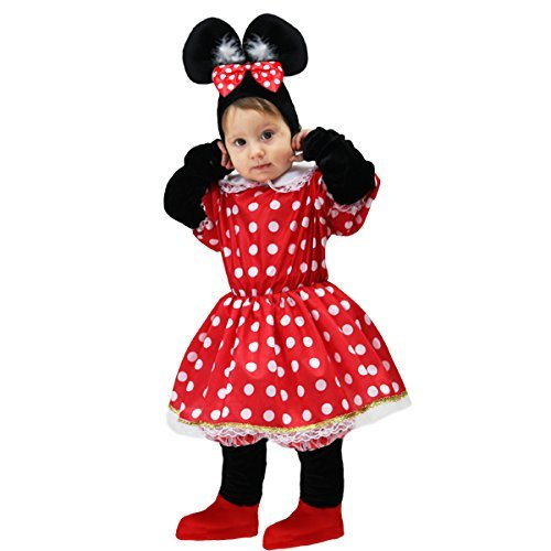 Costume Carnevale Neonata Minnie Mouse-Rosso- 13 18 Mesi  Amazon.it ... 65b991c0f8b