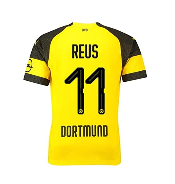 the best attitude 25a6f a6af6 SDEGJM Borussia Dortmund 18/19 Reus #11 Men's Home Jersey Yellow(S-XL)