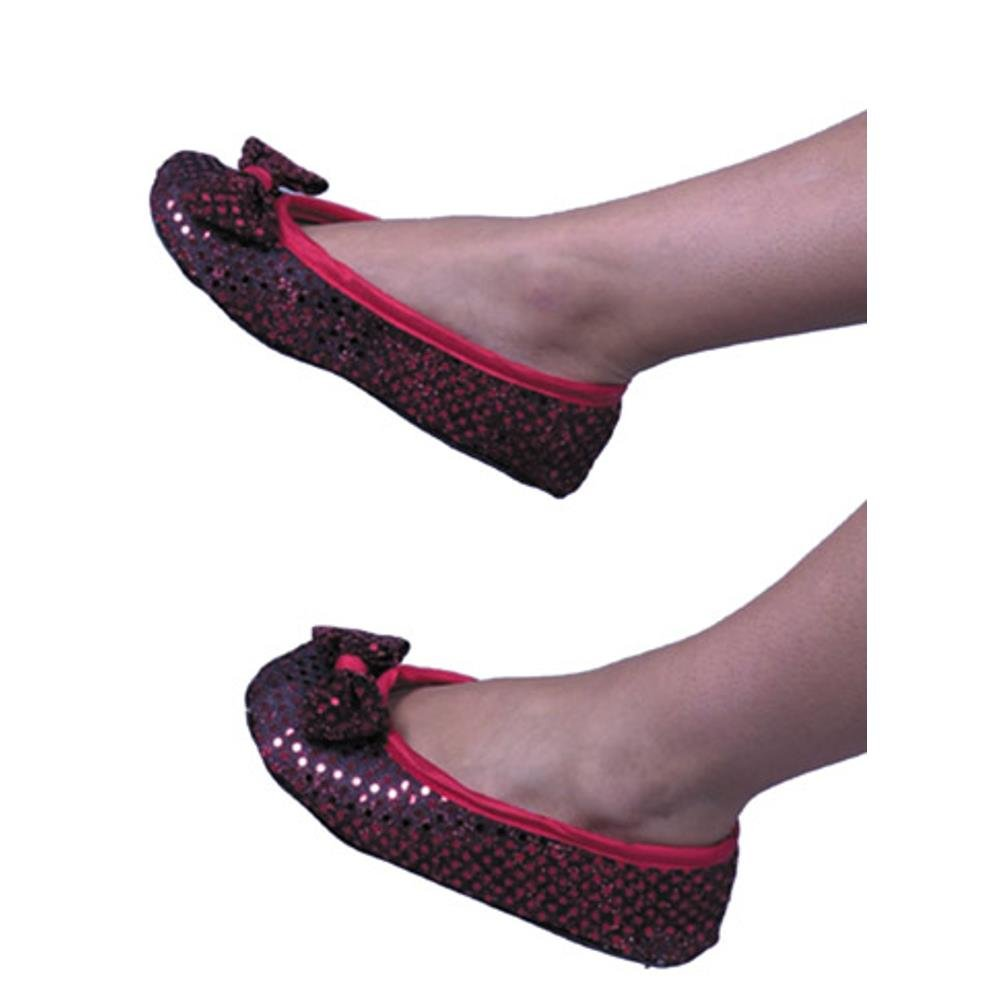 Adult Red Dorothy Costume Shoes Size: Medium (9'' long)