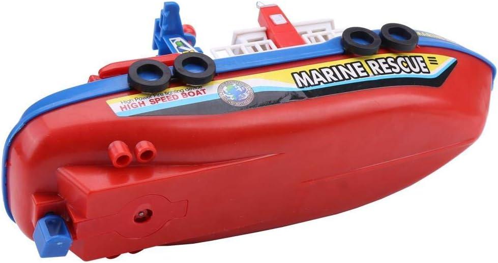 Giocattolo del Fireboat del Bambino Giocattolo Elettrico del Modello dei Bambini della Barca con Il Suono E Le Luci Istantanee Nave Spruzzante dellacqua Playset Vasca da Bagno Piscina Spiaggia Prete
