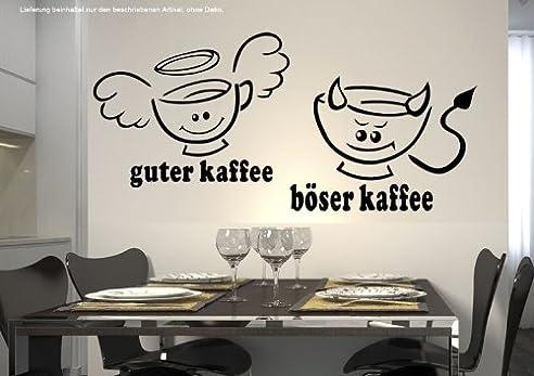 Wandtattoo Küche Cafe Coffee Guter Kaffee Böserkaffee 30 Farben 7