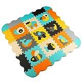 Menu Life P014 Soft Foam Play Mat Interlocking EVA Soft Jigsaw Puzzle Foam Baby Child Play Area Yoga Exercise Mats (30 x 30 x 1cm, 9pcs Play Mats with Fences)