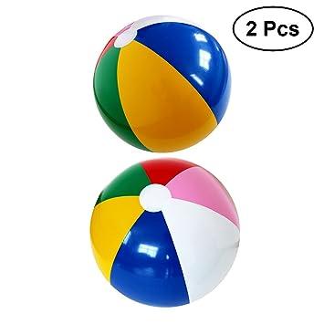 YeahiBaby 2pcs Pelota Hinchable de Fiesta de Color del Arco Iris ...