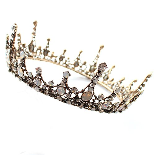 Full Crown (Retro Full Round Crown Bridal Wedding Jewelry Rhinestone Tiaras Crowns Pageant Hair Accessories)