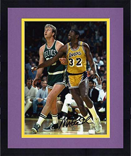 cd501c3528d Framed Los Angeles Lakers Magic Johnson Autographed 8