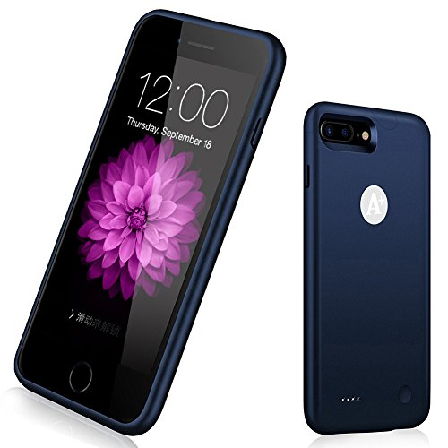 - iPhone 6 Plus 6s Plus Battery Case, 4000mAh Ultra Slim Portable Protective Power Charging Case iPhone 6 Plus 6s Plus(5.5 inch) Extended Battery Charger Case Battery Pack-Blue
