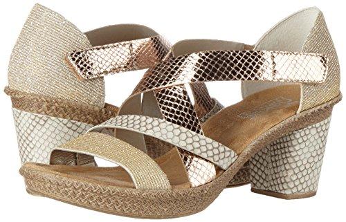 Rieker Damen 66581 Offene Sandalen mit Keilabsatz