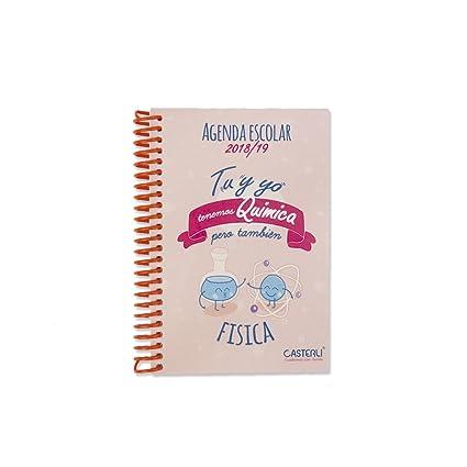 Casterli Iberia- Colección Inspire - Agenda Escolar 2018/19, día página, tamaño A6 - QUIMICA