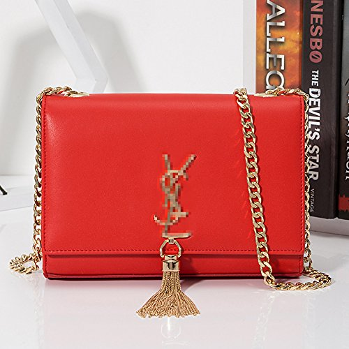 Ladies bag Bright shoulder cross casual skew single red square simple temperament GMYAN fashion bag dw7qdC