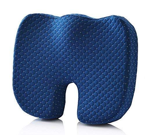 DXP care 45 * 35 * 8 cm Cojín Ergonómica ortopédica para coxis, aliva el Dolor Espalda,Cola ciatico, etc. Ideal para Silla de Oficina, Asiento del ...