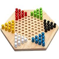Dcolor Hexagono tradicional juego chino de madera