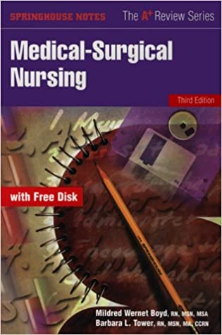 Medical Surgical Nursing Book With Diskette 9780874348613