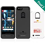 Google Pixel 2 Battery Case, ZeroLemon Ultra Power 6500mAh Extended Battery Case for Google Pixel 2(Not For Google Pixel 2 XL)- Black