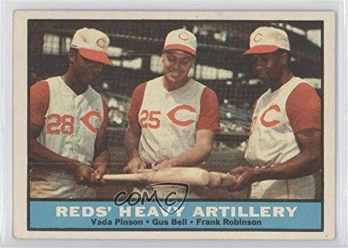 Vada Pinson; Gus Bell; Frank Robinson (Baseball Card) 1961 Topps - [Base] - Baseball Frank Topps Robinson