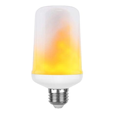 Bombillas LED con efecto llama, de Gezee, casquillo E27, de 1300 K,