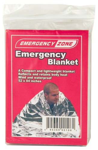 Emergency Zone Emergency Reflective Blanket, Brand, 1, 5 and 10 Packs Available
