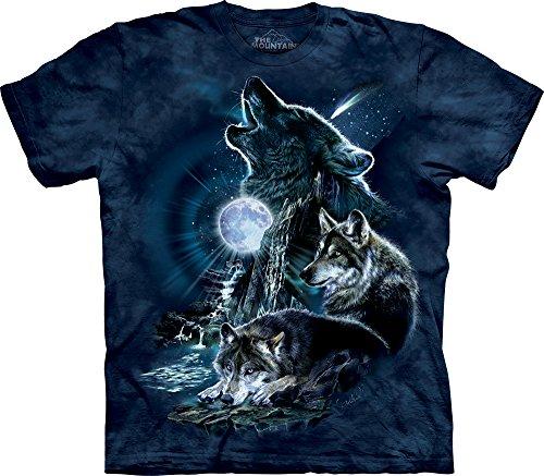 Bark Mens T-shirt - The Mountain Men's Bark At The Moon Short Sleeve T-Shirt,Dark Blue,X-Large