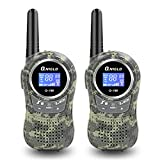 Qniglo Q168 Walkie Talkies for Kids, 22 Channel FRS/GMRS Two Way Radio with 3 Miles Long Range Handheld Mini Walkie Talkies (Pack of 2, Camo Green)
