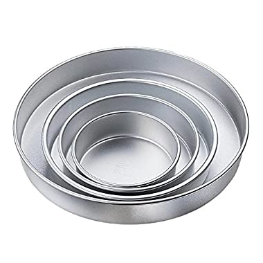 Wilton Performance Cake Pans, Round Pan Set of 4, 3 Inches Deep