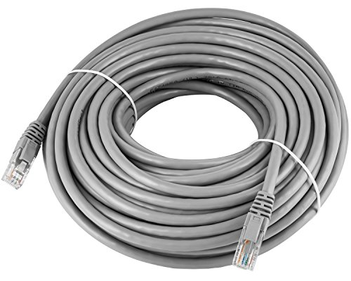 Maximm Cat6 Snagless Ethernet Cable - 75 Feet - Gray - Pure Copper - UL Listed - Cable Ties Included by Maximm (Image #1)