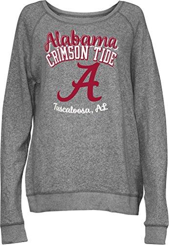 NCAA Alabama Crimson Tide Junior's Blythe Knobi Crew Fleece, X-Large, Heather Grey