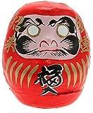 "Kotobuki ""Success"" Daruma Collectible Figurine, Small, Red"