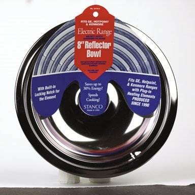 (Stanco Chrome Range Reflector Bowl Fits Ge, Hotpoint & Kenmore Ranges Produced Since 1990 Hd Chrome,)