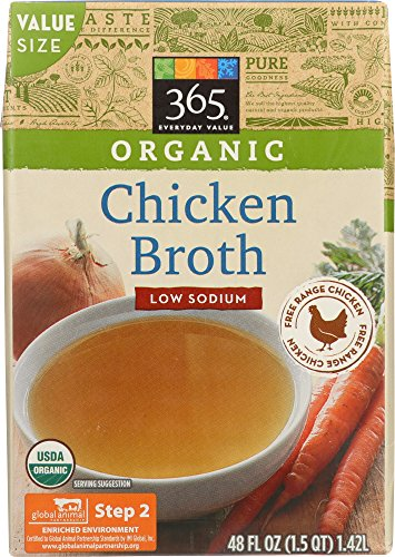 365 Everyday Value, Organic Low Sodium Chicken Broth, 48 fl oz