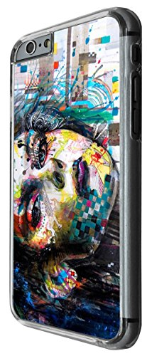 1076 - cool fun illustration rave girl dance music colourful pin up fashion Design For iphone 6 6S 4.7'' Fashion Trend CASE Back COVER Plastic&Thin Metal -Clear