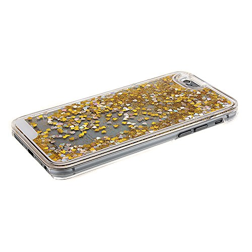 iPhone 6S funda, iPhone 6 caja, diseño creativo nsstar flashsellerz [fluido líquido] [peces] ebuygb carcasa rígida para Apple iPhone 6S/6 (11,94 cm) Golden,heart