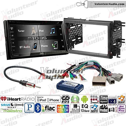 Volunteer Audio Jvc Kw V340bt Double Din Radio Install Kit With Bluetooth Sirius Xm Ready 6 2 Touchscreen Fits 2007 2010 Edge With Factory Amplified Sound