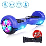 jolege Self Balancing Scooters for Kids 6.5'' Hoverboard Electric Smart Self Balancing Scooter Hoverboard Built-in LED Wheels Side Lights-UL2272 Certified (Blue)