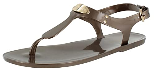 eaa764f9283 Image Unavailable. Image not available for. Colour  MICHAEL Michael Kors  Women s MK Plate Jelly Sandal ...