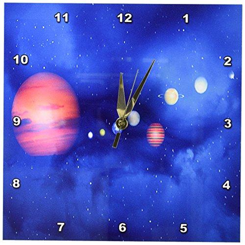 3dRose LLC Solar System 10 by 10-Inch Wall Clock by 3dRose