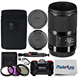 Sigma 70mm f/2.8 DG Macro Art Lens for Canon EF + 49mm 3 Piece UV Filter Kit + Memory Card Case (24 Slots) + Lens Cleaning Pen + Photo4Less Cleaning Cloth + Lens Cap Holder – Deluxe Accessory Bundle
